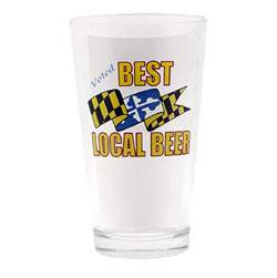 Microbrewery pint glasses for Baltimore glassware decorators
